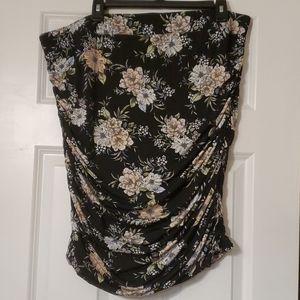 Torrid floral stretch pencil skirt
